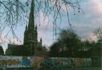 St Mary Redcliffe with graffiti
